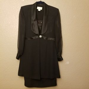 Elegant Cache Black Dress Jacket Set Size 8